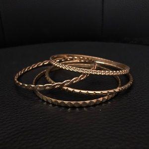 Jewelry - 4 Piece Gold Bangle Set